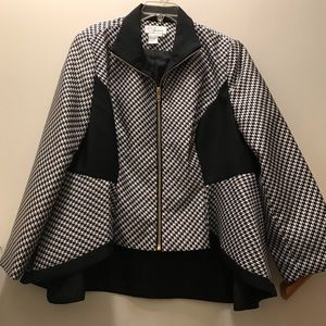 Especially Yours houndstooth zip up jacket. 20W